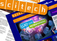 Scitech web site and part of the usability report